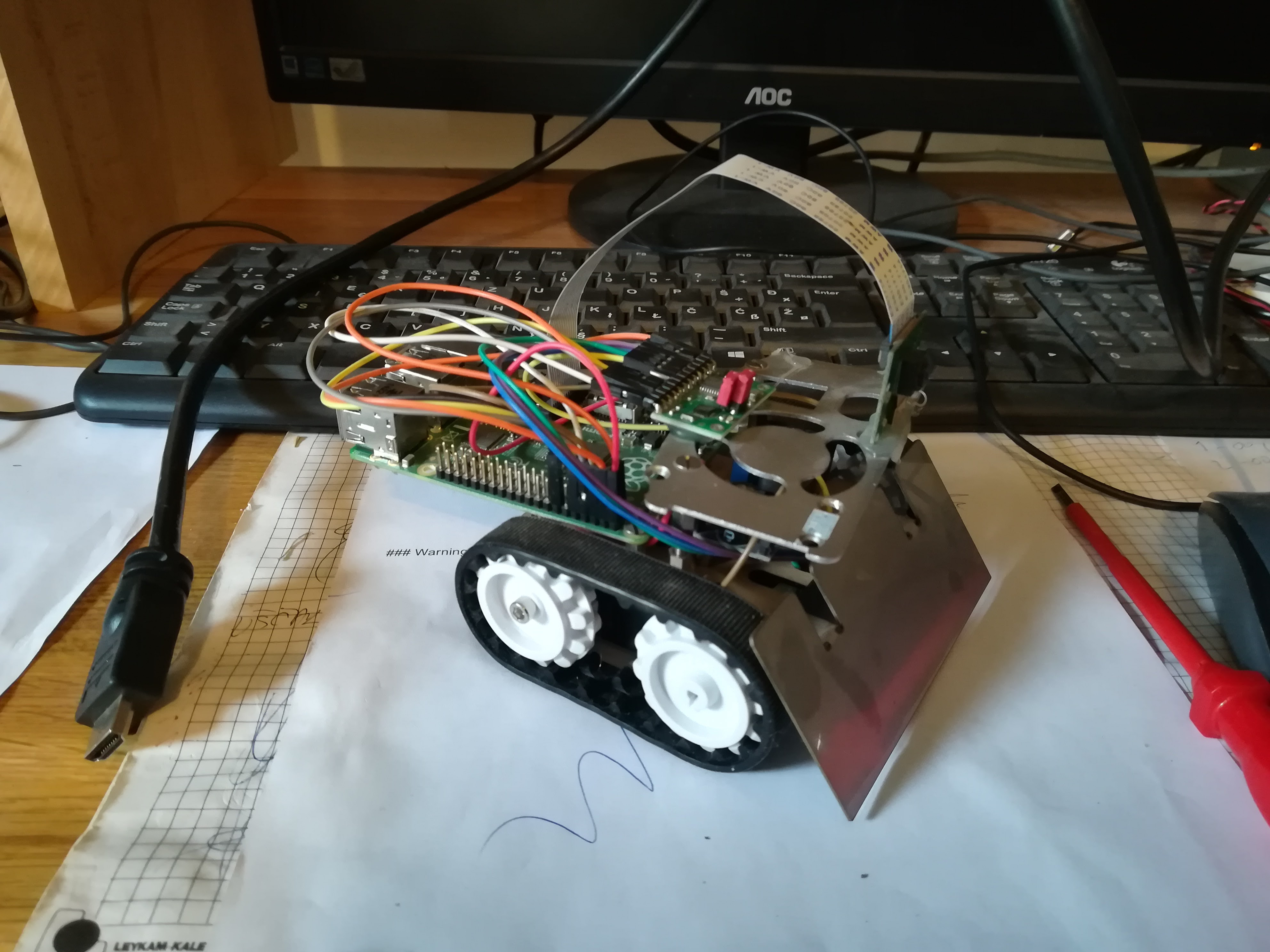 Raspberry Pi Toy Bulldozer